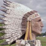 Indian Head Sculpture