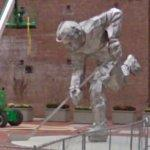 Stainless steel hockey player (StreetView)