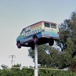 Van on a Pole (StreetView)