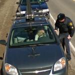 Google Car stopped by Police (StreetView)