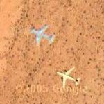 Airplane over the Mohave (Google Maps)