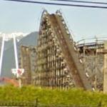 Wooden Roller Coaster at Playland (StreetView)