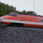 High Speed Train TGV on static display