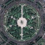 Aircraft monument in a roundabout (Google Maps)