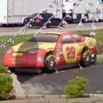 Inflated Kevin Harvick stock car