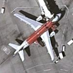 Airbus A319 in Arizona Cardinals special scheme (Google Maps)