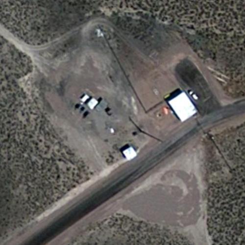 Main Security Gate To Area 51 In Alamo Nv Google Maps