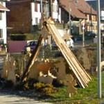 Nativity Crib at a roundabout (StreetView)
