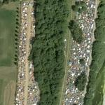 Thousands of tents at the Nuke Festival (Google Maps)