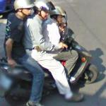Three on a scooter! (StreetView)
