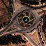 Iraqi Traffic Circle in Mountainous Region