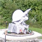 Monument to Fabio Casartelli - died on 1995 Tour de France (StreetView)