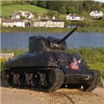 Recovered WWII Sherman tank sunk during Exercise Tiger (StreetView)