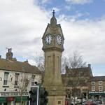 Clock in Thirsk (StreetView)