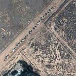 Iraqi MIG-23s Pushed Aside (Google Maps)