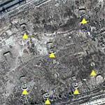 Iraqi Aircraft In Revetments (Google Maps)