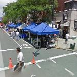 Filming the movie 'The Bounty Hunter' in New York (StreetView)