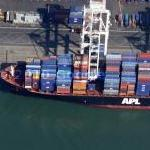 Cargo ship APL Belgium (Google Maps)